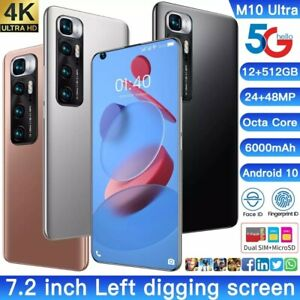 M 10 Ultra Smartphone 48 MP Rear Camera Selfie cellphone android phone