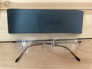 silhouette rimless titanium eyeglasses