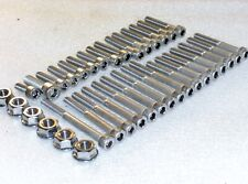 Honda CR250R 92-01 Engine Covers, Cylinder 50x Stainless Allen Bolts Flange Nuts