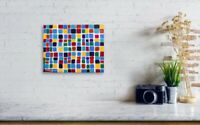 Gallery Price $100 8*10 Canvas original hand-painted Abstract Mosaic painting