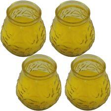4x Anti-Insekten Citronella Kerze in dekorativem, bauchigem Glas gegen Mücken