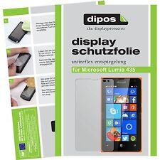 2x dipos Microsoft Lumia 435 Protector de Pantalla protectores mate