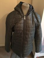 NEW Love My Fashions grey Parka Padded Puffer Quilted Anorak - Size 16