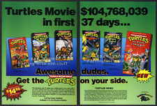 Teenage Mutant Ninja Turtles Videos__Original 1990 Trade print AD promo__TMNT