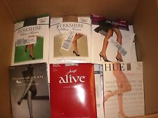 WHOLESALE LOT 100 ASST NAME BRAND OPEN PACKAGES PANTYHOSE/STOCKINGS $800+ RETAIL