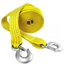 "NEW - 10,000-pound TOW STRAP 2"" x 20' - Heavy Duty with Safety Hooks"