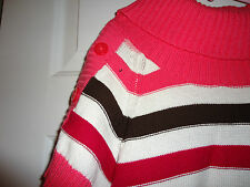 NEW!! GYMBOREE girls Pink Brow Gold and Red Sweater dress Size Large 10-12