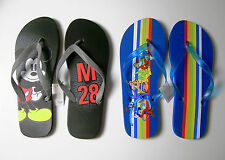 Disney Men's Mickey Mouse Flip-Flops Flip Flops Black or Blue 7 8 9 10 11 12 13