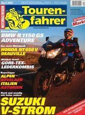 TF0204 + Test HONDA NT 650 V Deauville + Tourenfahrer 4/2002