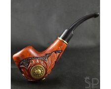 "Carved tobacco smoking pipe *Viking* | pipes - 6.1"" (15,5cm)."
