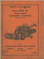 ALLIS Chalmers gleaner combinare MODELLO SUPER una delle parti manuale-gtc2c ** ORIGINALE **