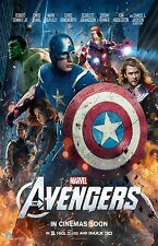 The Avengers movie poster : Captain America, Iron Man, Hulk : 11 x 17 inches :