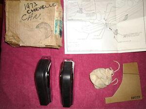 NOS 1973 CHEVROLET CHEVELLE MALIBU REAR BUMPER GUARDS