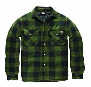 Dickies Holzfällerhemd Portland grün Polarfleece gefüttert Hemd / Jacke