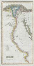 Egipto. Valle del Nilo. Eyles Irwin 1777 Ruta de la India. Thomson 1830 Mapa Antiguo