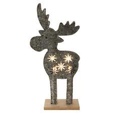 Top Weihnachtsdeko XL LED - Weihnachts Rentier LED beleuchtet Filz ca. 47 cm