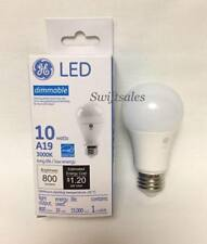 GE 69119 LED10DA19/830 10W LED Dimmable A19 Standard Edison Bulb - New In Box