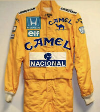 Ayrton senna CAMEL embroidery patches suit/ Go Kart/Karting Race/Racing suit
