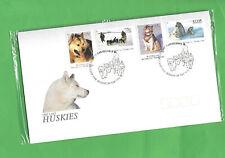 Kuvert Huskies, Hunde, FDC