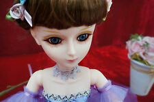 """Cosette Ball Jointed Doll BJD 1/3 Christmas Birthday Gifts Purple Clothes 22"""""""