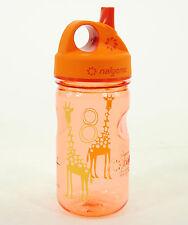 Nalgene Tritan Grip 'n Gulp 12 oz. Water Bottle, Orange, Giraffe