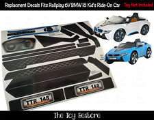 The Toy Restore Replacement Stickers Fits Rollplay BMW I8 Car 6V Battery-Powered