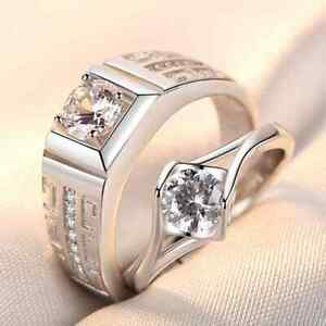 2 Ringe Verlobungsringe Partnerringe Trauringe Freundschaftsringe Silber Ehe