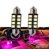 Navette Led 41-42mm Ampoule C5W voiture 237 276 lampe plafonnier Violet ambiance