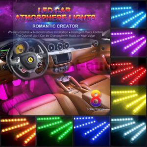 4x for 2003-2018 Nissan Qashqai RGB Interior Floor Atmosphere Music LED Light AU
