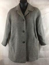 Women's Wool Blend Winter Coat by Herman Kay Size 10 Gray Pea coat USA Made