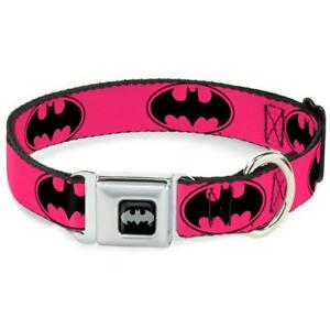 Buckle Down Seatbelt Dog Collar Batman Pink Medium WBM087-M USA