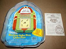 WILTON ROCKIN' JUKE BOX CAKE PAN with Instruction Manual #502-1387