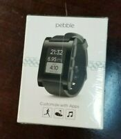 Pebble Smart Watch for iPhone or Android, Black Color, Model 301BL (parts only)