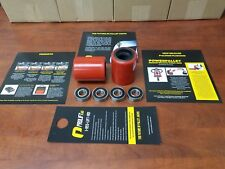 """2 New Universal HD Pallet Jack Load Wheels w Bearings Poly Non Marking """"Pair"""