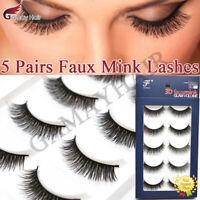 Foxesji Makeup Eyelashes 3d Mink Lashes Fluffy Soft Wispy Volume Natural Long Ebay