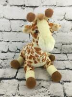 Giraffe Plush Yellow Brown Spotted Laying Stuffed Animal Soft Toy