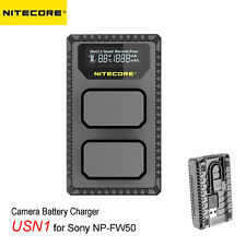 Nitecore USN1 2-Slot Dual USB Camera Battery Charger for Sony NP-FW50 Batteries