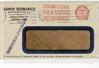 buenos aires to czechoslovia slogan stamps cover  ref 10143