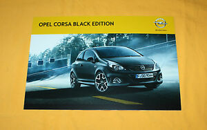 Opel Corsa OPC Black Edition 2011 Prospekt Brochure Depliant Catalog Folder