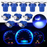 10pcs Blue T5 5050 1SMD B8.5D LED Car Dashboard Dash Gauge Instrument Light Bulb