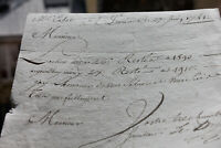 1741 RARE Louis XV stock exchange manuscript share price TRADING stockbroker sig