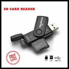 SD Card Reader Flash Drive USB 3.0 Memory Stick Fold Storage Thumb Stick Pen
