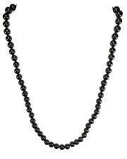 Tormalina nera / Nero Catenina con sfere Collana Chiusura a moschettone 45 cm