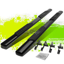 """5"""" BLACK COATED OVAL SIDE STEP NERF BAR/RAIL FOR 04-08 FORD F150 EXT/SUPER CAB"""