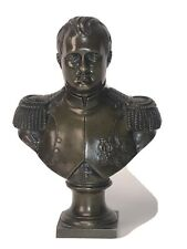 """Antique French Empire Style Napoleon Bronze Bust 7"""" Detailed"""