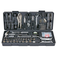 130 Piece Tool Kit with Case Pliers Wrenches Home Shop Car Garage-NEW-Comp$89.99