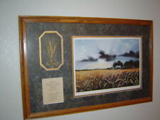 "Constance Legler Smith signed limited edition ""Wheat Field"" Framed Print"