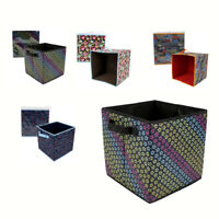 LOT Foldable Cloth Storage Cube Basket Bins Organizer Containers Drawers 4-PACK