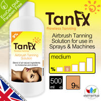Spray Tan Solution Liquid 1 Litre 9% or 12% Fake Tanning by Tan FX