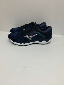 Mizuno Men's Wave Horizon 4 Running Shoe Navy Blazer/Silver 11.5 D(M) US EU 45
